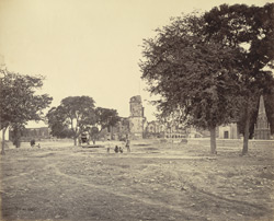 The Residency from the north-west, with part of the cemetery in the foreground, Lucknow